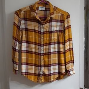 OLD NAVY girl's plaid button up